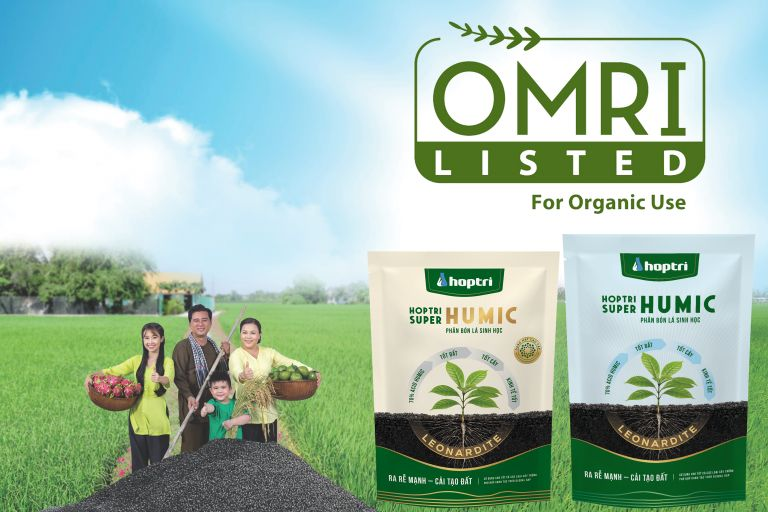 Hop Tri Super Humic certified by The Organic Materials Review Institute, USA